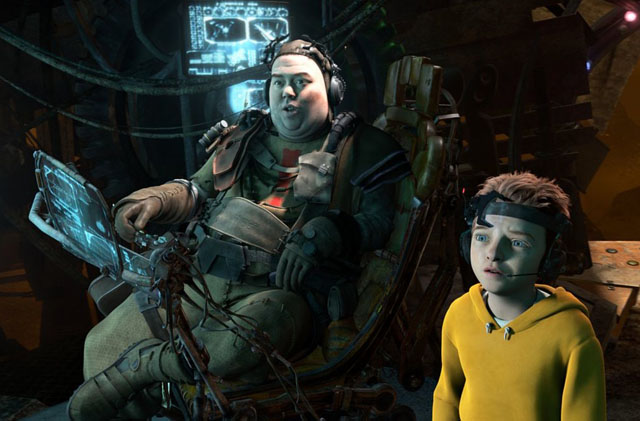 Nerve Center: Gribble (Voice of Dan Folger) and Milo (Seth Green) in 'Mars Need Moms'