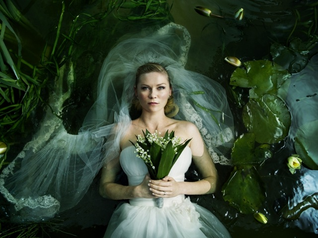 Kirsten Dunst stars in Lars von Trier's Melancholia.