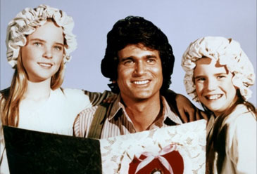 Melissa Sue Anderson, Michael Landon and Melissa Gilbert of 'Little House on the Prairie'
