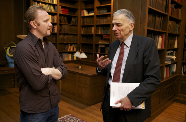 Advocates: Morgan Spurlock and Ralph Nader in 'The Greatest Movie Ever Sold'