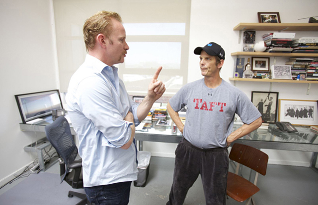 Point Taken: Morgan Spurlock and Writer/Actor Peter Berg in 'The Greatest Movie Ever Sold'