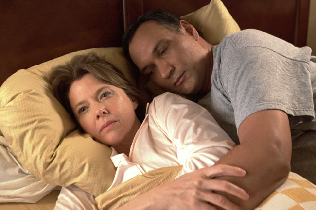 Renewal: Annette Bening as Karen and Jimmy Smits as Paco in 'Mother and Child'