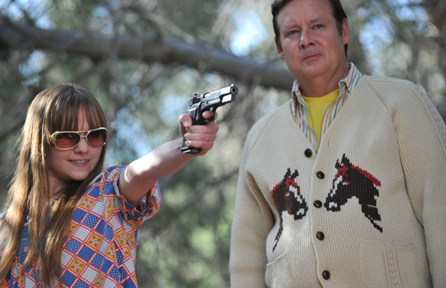 Tara Lynne Barr (Roxy) and Joel Murray (Frank) in 'God Bless America'