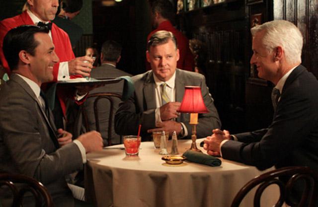 Joel Murray (center) with Jon Hamm (left) and John Slattery in 'Mad Men'