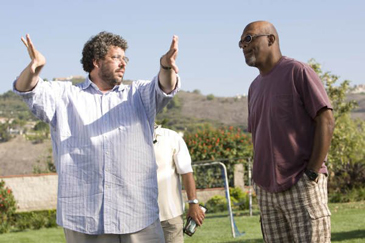 Director Neil LaBute and Samuel L. Jackson on the set of