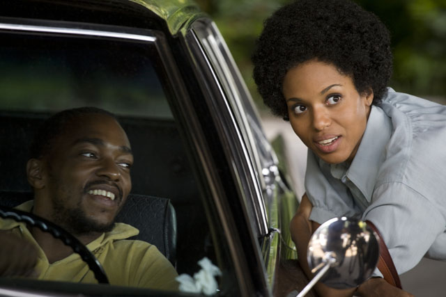 Anthony Mackie as Marcus and Kerry Washington as Patricia in 'Night Catches Us'