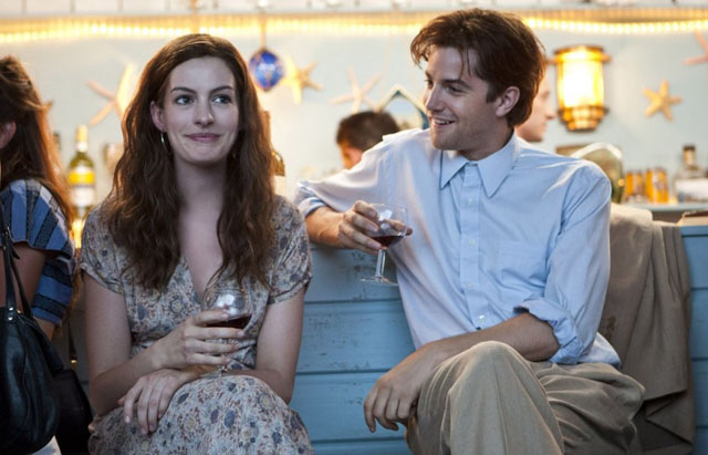 Toasting the Future: Anne Hathaway and Jim Sturgess as Dexter in 'One Day'
