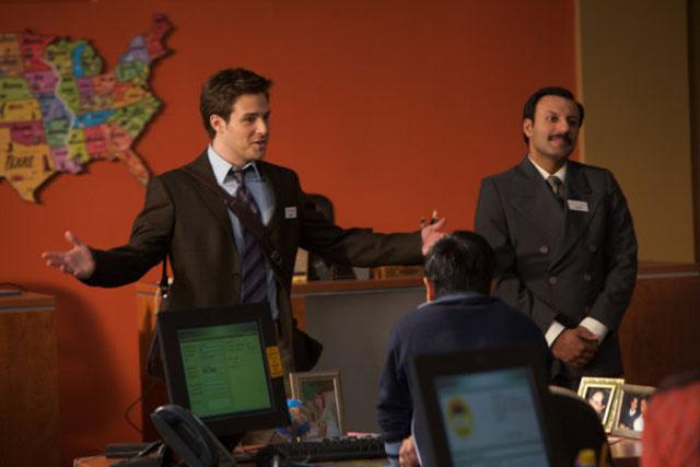 Managing: Ben Rappaport as Todd, Rizwan Manji as Rajiv in 'Outsourced'