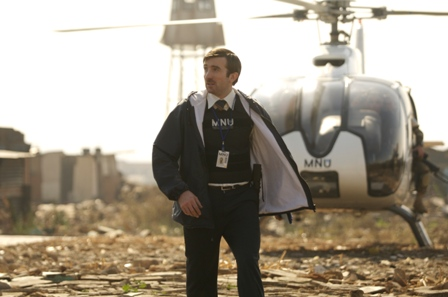Sharlto Copley in TriStar Pictures' sci-fi thriller DISTRICT 9.