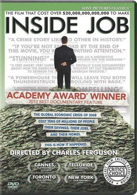 Inside Job was released on Blu-Ray and DVD on March 8th, 2011