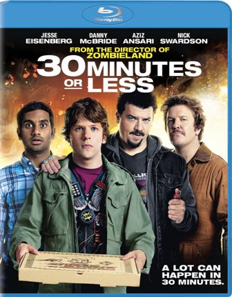 30 Minutes or Less was released on Blu-ray and DVD on November 29th, 2011