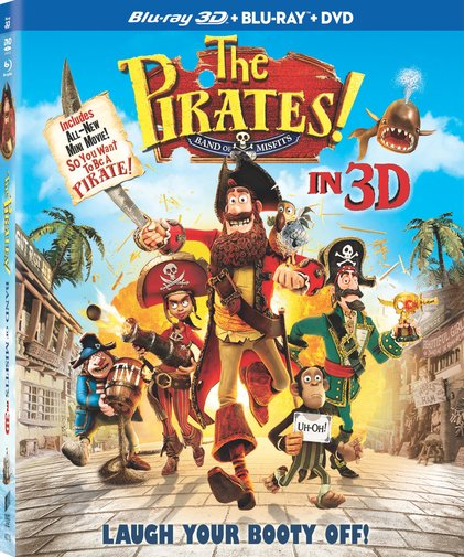 The Pirates! A Band of Misfits was released on Blu-ray and DVD on August 28, 2012