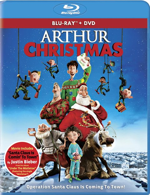 Arthur Christmas was released on Blu-ray and DVD on November 6, 2012