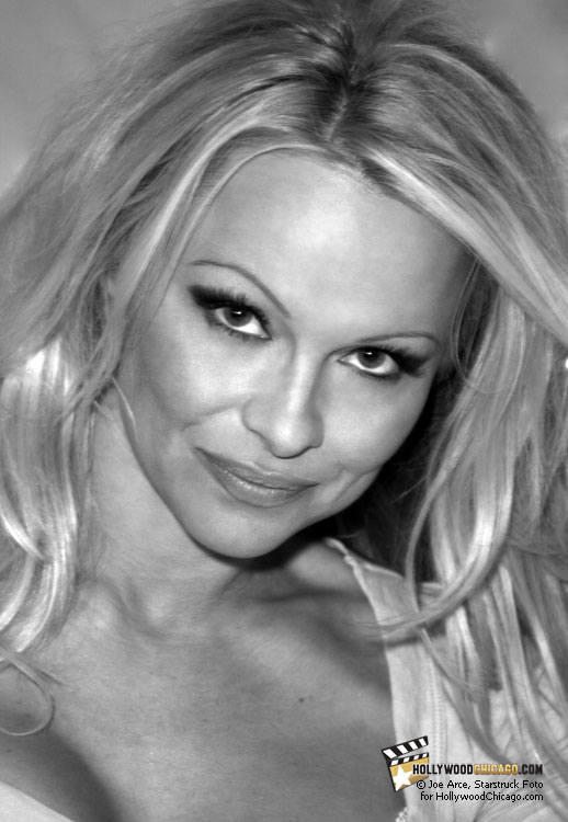 Dancing With Herself: Pamela Anderson during her appearance at the Woodfield Mall