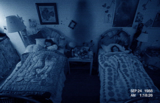 Chloe Csengery as Young Katie and Jessica Tyler Brown as Young Kristi Rey in 'Paranormal Activity 3'
