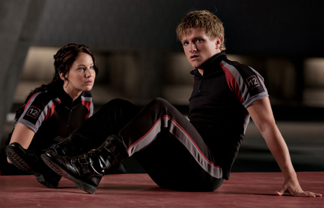 Jennifer Lawrence (Katniss) with Josh Hutcherson in 'The Hunger Games'
