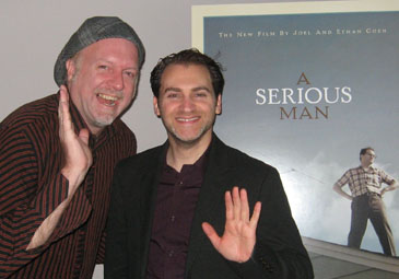 Patrick McDonald and Michael Stuhlbarg in Chicago, October 1st, 2009.