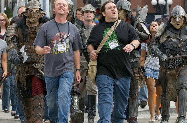 Leading the Geek Army: Simon Pegg (Graeme) and Nick Frost (Clive) in 'Paul'