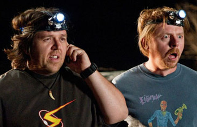 Enlightened: Simon Pegg (Graeme) and Nick Frost (Clive) in 'Paul'