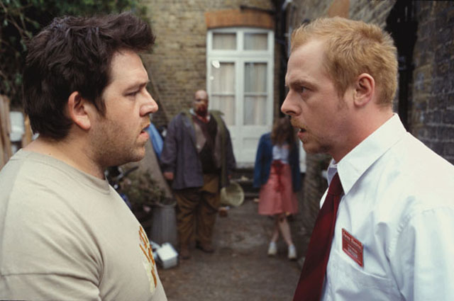 In the Beginning: Nick Frost and Simon Pegg in 'Shaun of the Dead'