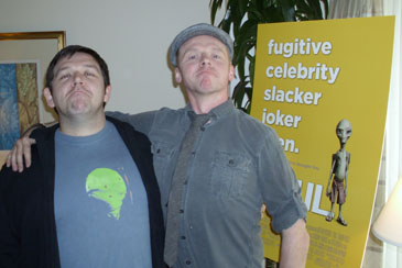 Nick Frost and Simon Pegg in Chicago, March 9th, 2011