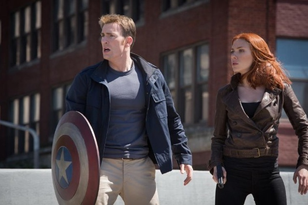 Chris Evans and Scarlett Johansson in 'Captain America: The Winter Soldier'