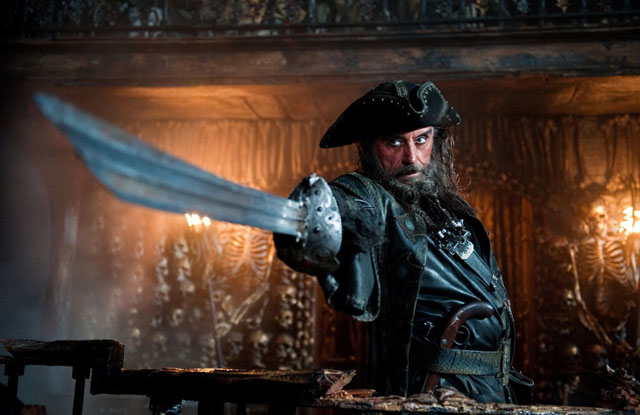 Blackbeard in 3D: Ian McShane in 'Pirates of the Caribbean: On Stranger Tides'