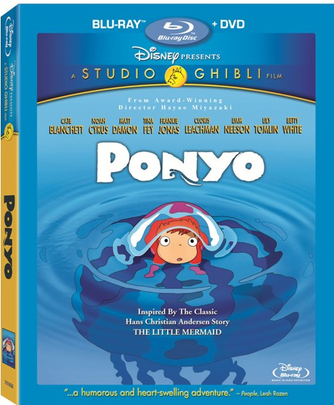 Ponyo was released on DVD and Blu-ray on March 2nd, 2010.