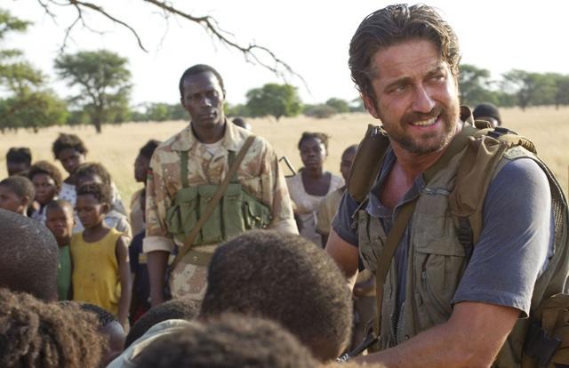 In Country: Souleymane Sy Savane and Gerald Butler in the Sudan in 'Machine Gun Preacher'