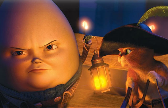 Humpty Dumpty (Zach Galifianakis) and Puss in 'Puss in Boots'