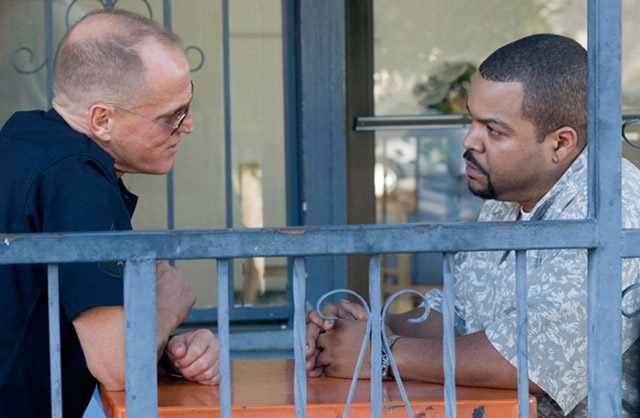 Confronting Demons: Woody Harrelson and Ice Cube (Timkins) in 'Rampart'