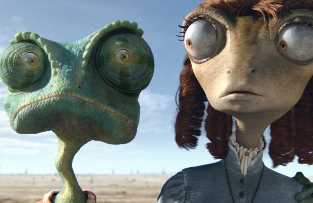 Coupling: Rango (Voice of Johnny Depp) and Beans (Isla Fisher) in 'Rango'