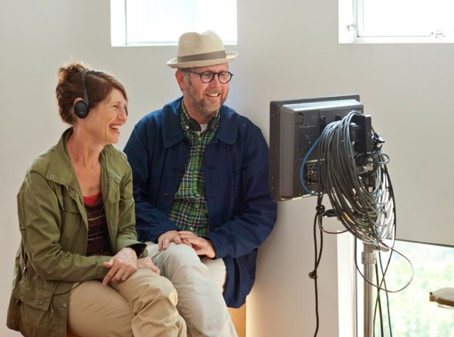 Directors Valerie Faris and Jonathan Dayton on the set of Ruby Sparks.