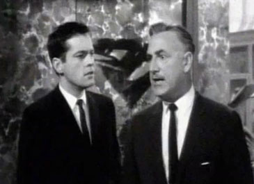 With Raymond Bailey [Mr. Drysdale] in 'The Beverly Hillbillies'