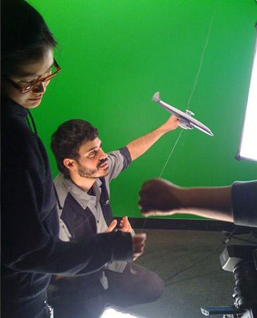 Director Rujanee Mahakanjana (left) with Special Effects Coordinator Cesar Pardo of 'Parallel Universe'