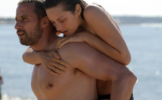 Matthias Schoenaerts and Marion Cotillard star in Jacques Audiard's Rust and Bone.