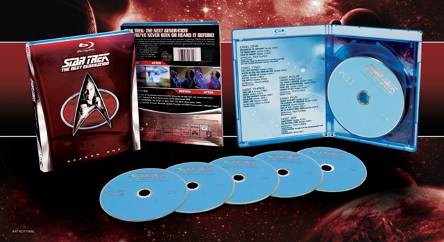 Star Trek: The Next Generation -- Season One was released on Blu-ray and DVD on July 24, 2012
