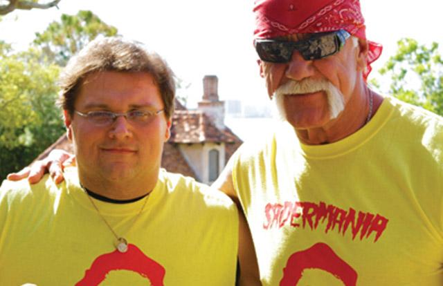Chris Sader and Hulk Hogan in 'Sadermania'