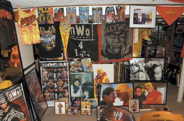 A Small Part of Chris Sader's Hulk Hogan Memorabilia Collection in 'Sadermania'