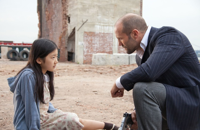 Jason Statham (Luke) Protects Catherine Chan (Mei) in 'Safe'