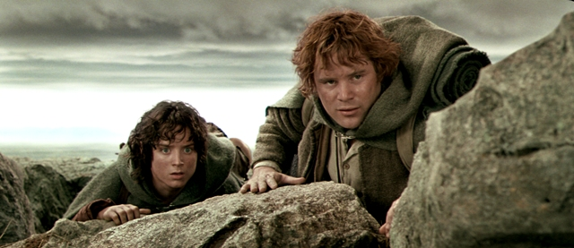 Elijah Wood and Sean Astin play Frodo Baggins and Samwise 'Sam' Gamgee in Peter Jackson's The Lord of the Rings: The Motion Picture Trilogy.