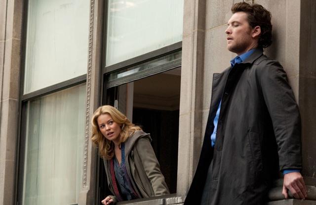 Sam Worthington with Elizabeth Banks in 'Man on a Ledge'
