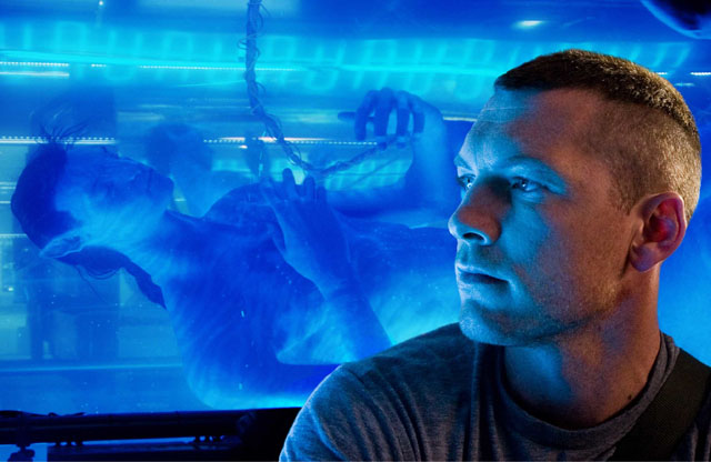 Sam Worthington with His Alter Ego in 'Avatar'
