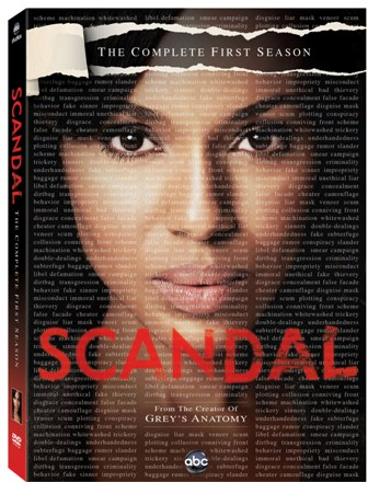 Scandal: The Complete First Season was released on DVD on June 12, 2012