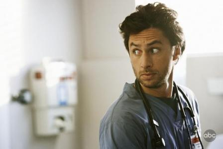 Zach Braff stars in the season premiere of Scrubs on ABC on January 6th, 2009.