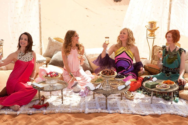 Carrie of Arabia: Kristin Davis, Sarah Jessica Parker, Kim Cattral and Cynthia Nixon in 'Sex and the City 2'