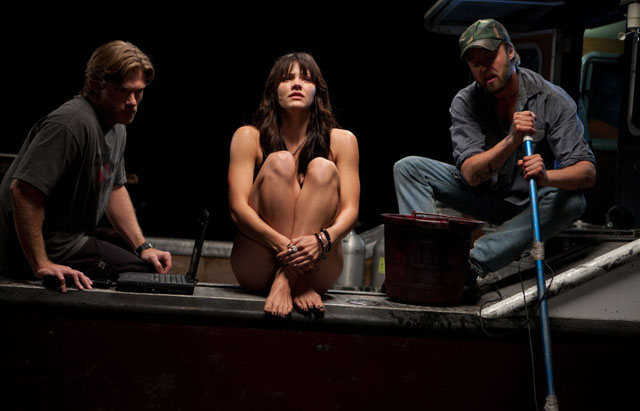 Stirring the Waters: Chris Cormack as Dennis, Katharine McPhee as Beth and Joshua Leonard as Red in 'Shark Night 3D'