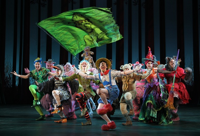 "The company of ""Shrek the Musical""."" target="