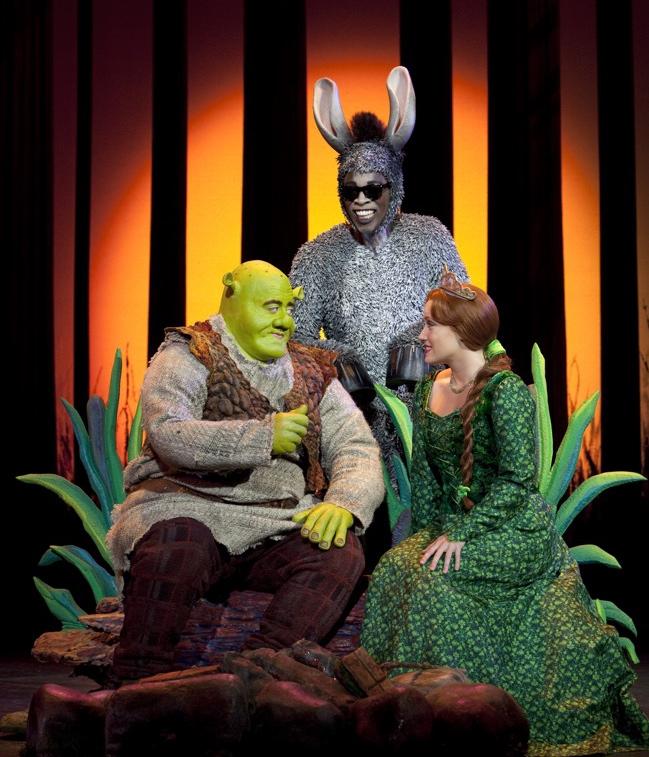 "Eric Petersen, Alan Mingo, and Haven Burton star in ""Shrek the Musical""."" target="