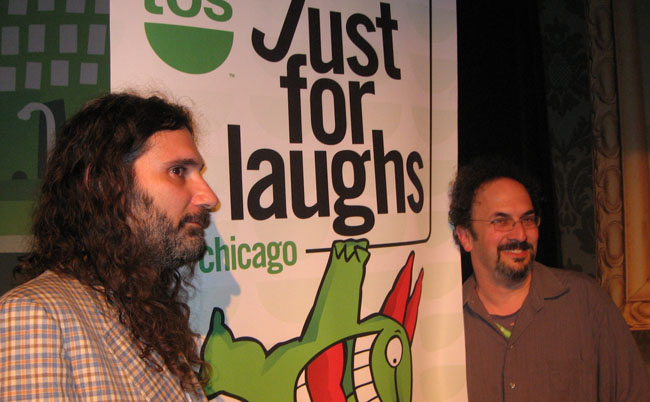 Dino Stamatopoulos and Robert Smigel at the Lakeshore Theater Chicago in TBS 'Just for Laughs'